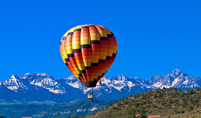 hot air balloon rides in telluride co